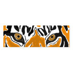 BC- Tiger Eyes Bookmark Double-Sided Mini Business Cards (Pack Of 20)