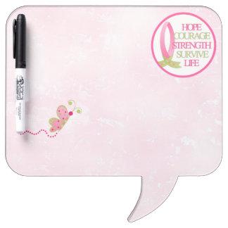 BCA Square Speech Bubble w/ Pen Dry-Erase Board