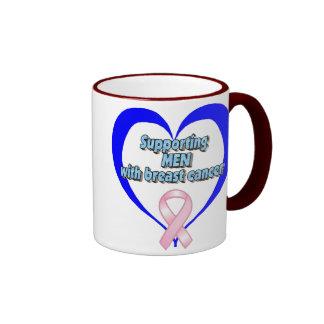 BCA - Supporting MEN w/breast cancer Ringer Mug