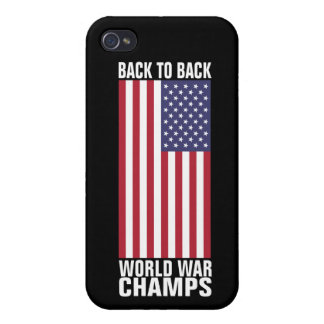 Bcak to Back World War Champs iPhone 4/4S Cases