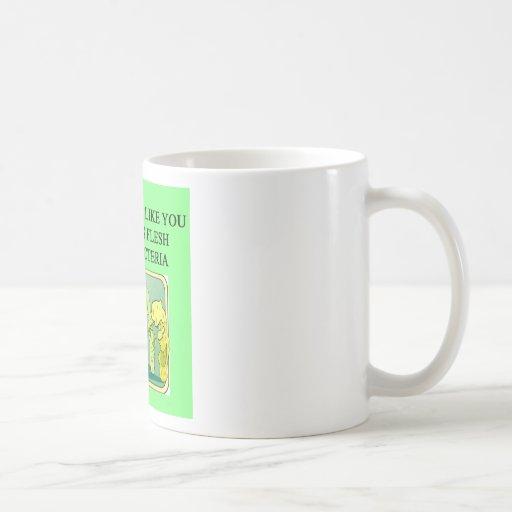 bcateria de la consumición de la carne tazas de café