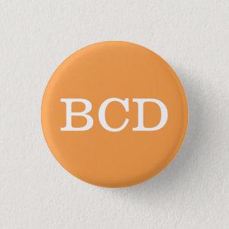 'BCD' Alphabet Collectible (#3) Pinback Button