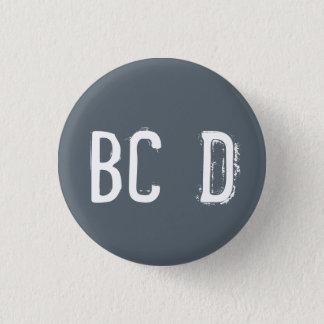 'BCD' Alphabet Collectible (#4) Pinback Button