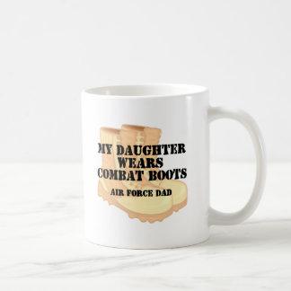 Bcd de la hija del papá de la fuerza aérea taza