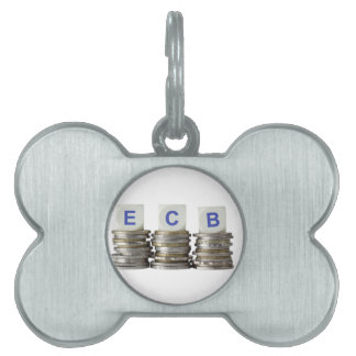 BCE - Banco Central Europeo Placas De Nombre De Mascota