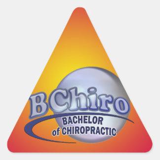 BChiro BACHELOR  CHIROPRACTIC BLUE LOGO Triangle Sticker