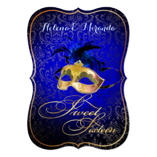 Bckgrnd del dulce 16 Masquerade/DIY de PixDezines Invitación 12,7 X 17,8 Cm