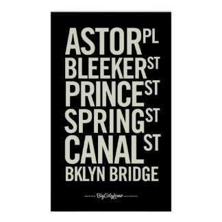 BCL Modern Subway Signs Posters
