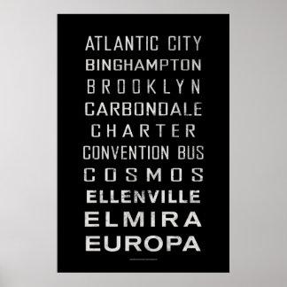 BCL Vintage Subway Sign: Atlantic City Poster