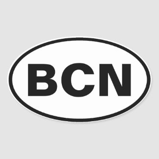 BCN Oval Decal Oval Sticker