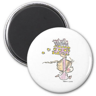 BD-001 Birthday Girl Running Magnets