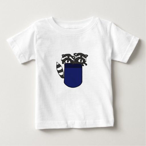 BD- Baby Raccoons in a Pocket Baby T-Shirt
