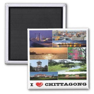 BD - Bangladesh - Chittagong - I Love - Collage Magnet