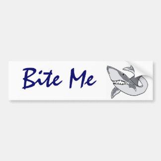 BD- Bite me shark bumper sticker