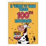 bd cow - 100 greeting card