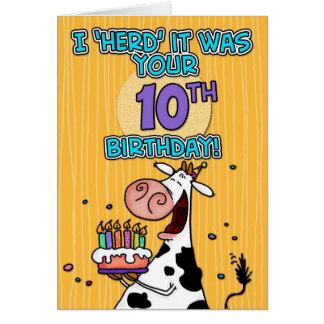 bd cow - 10 card