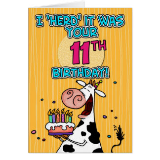bd cow - 11 card