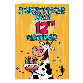 bd cow - 12 card