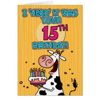 bd cow - 15 card