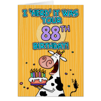 bd cow - 88 greeting card
