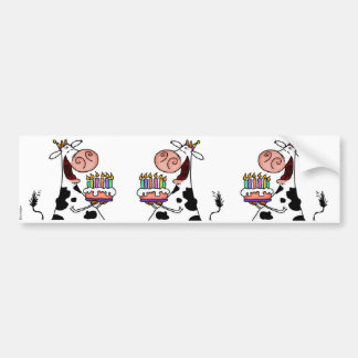 BD Cow Scrapbooking sticker Car Bumper Sticker