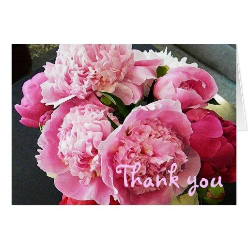 BD el Peony floral le agradece cardar Tarjeta De Felicitación