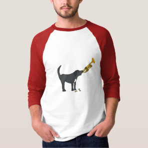 BD- Funny Dog Playing the Trumpet Shirt