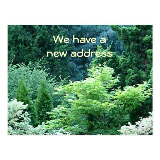 BD- Garden and Trees Moving Notices Postcard