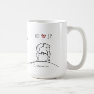 """BD heart JP "" Mugs"