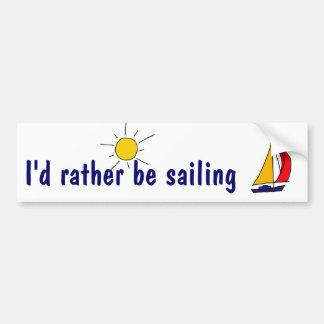 BD I estaría navegando bastante a la pegatina para Etiqueta De Parachoque
