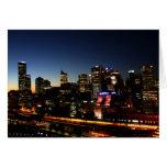 [BD] Paisaje urbano de Melbourne por noche Tarjeta