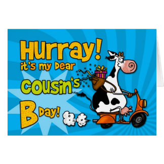 bd scooter cow - cousin card