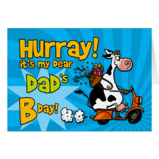 bd scooter cow - dad card
