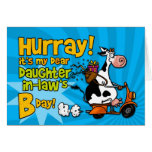 bd scooter cow - daughter-in-law greeting card