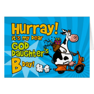bd scooter cow - goddaughter card