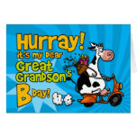 bd scooter cow - great grandson card