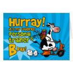 bd scooter cow - personal trainer greeting cards