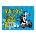 bd scooter cow - sister-in-law greeting card