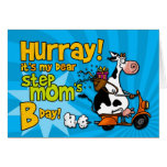 bd scooter cow - step mom greeting card