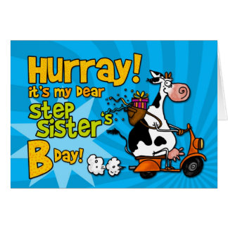 bd scooter cow - step sister card