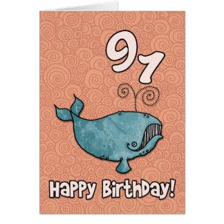bd whale - 91 greeting card