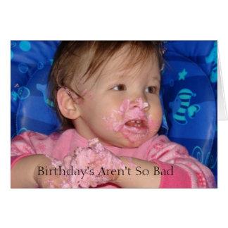 bday5, cumpleaños no son tan malos tarjetas