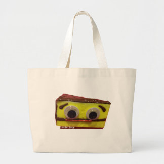 bday cake with logo large tote bag