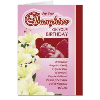 B'day - Daughter Card