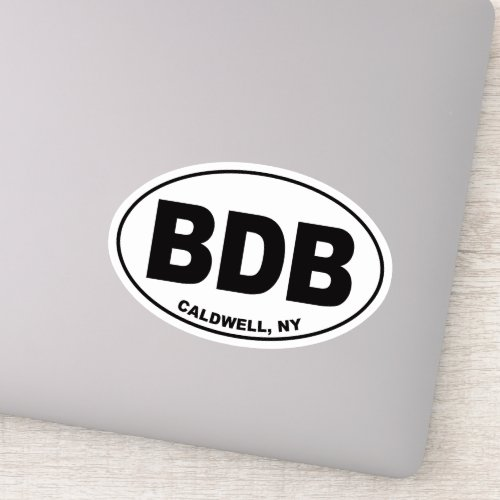 BDB _ Caldwell New York Window Sticker