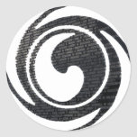 bdf wall logo round sticker