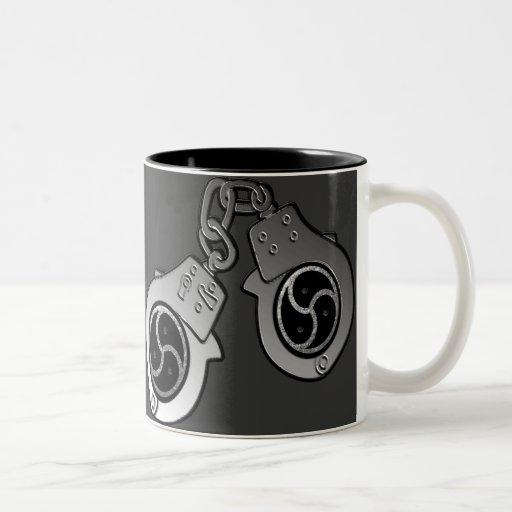 BDSM EMBLEM and Hand Cuffs Coffee Mug