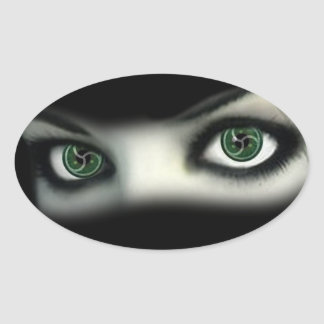 BDSM EYES OVAL STICKER
