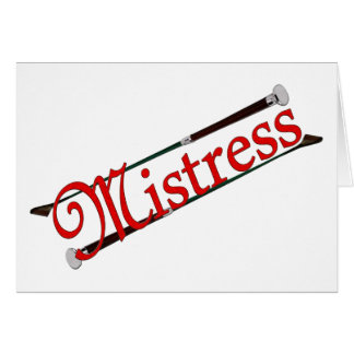 BDSM Mistress with Riding Crops Card