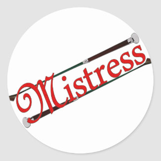 BDSM Mistress with Riding Crops Classic Round Sticker